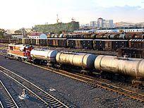 满洲里市进口原油列车