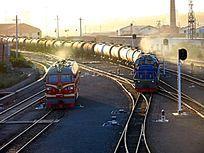 内蒙古满洲里 油罐列车
