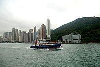 香港西环海旁的小船
