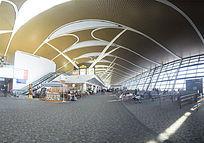 宽敞的飞机场候机大厅