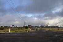 澳洲袋鼠岛农场旁的公路