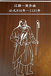 北方草原民族服饰示意图 契丹族