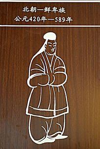 北方草原民族服饰示意图 鲜卑族