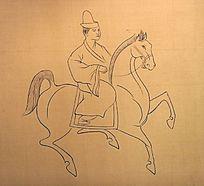 汉墓壁画车马图