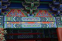 中式图样双龙房檐绘画
