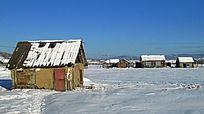 百年边塞小镇奇乾雪景风光
