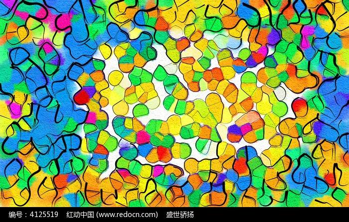 彩色创意装饰画图片