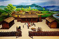 达斡尔族传统民居院落