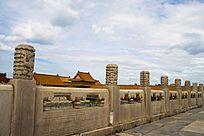 故宫走道上的石雕护栏