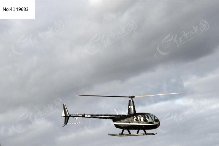 黑色直升飞机图片