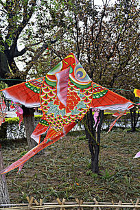 金鱼彩绘帛鸢