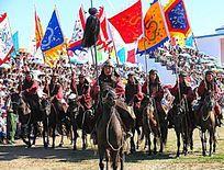 蒙古族骑兵方阵