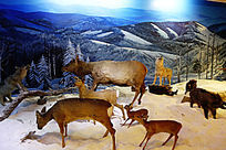 远古大兴安岭冬季山野动物