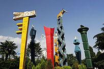 云南昆明 民族特色的雕塑