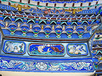 白族民居 门檐上的装饰画