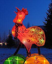 彩灯小公鸡