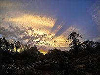 大自然黄昏美景