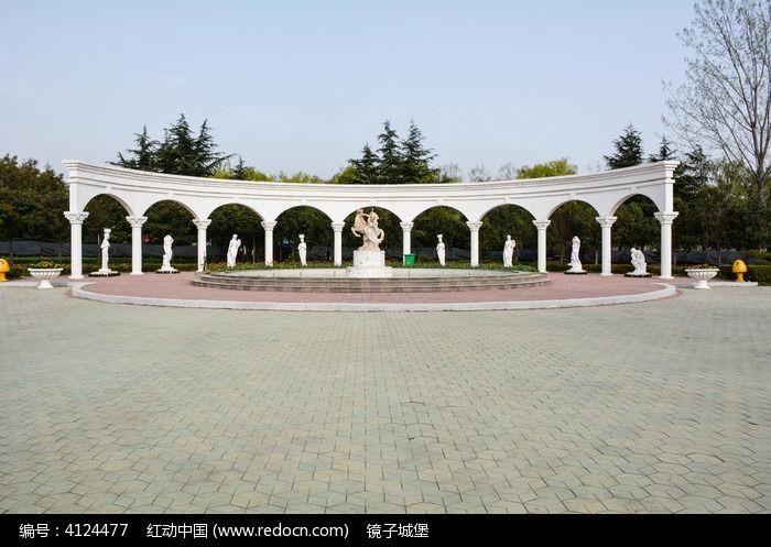 弧形广场欧式建筑图片