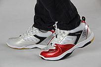 精美的红白色鞋子
