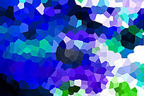 蓝色水晶背景
