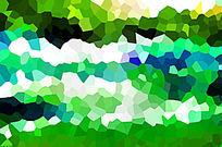 绿色色块背景