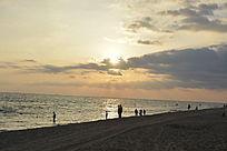 三亚阳光海岸的日落