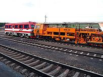 铁路上 维修工具车