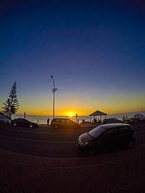 夕阳下的袋鼠岛海岸景色