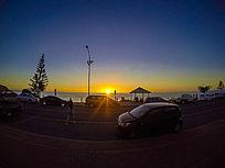 夜幕下的澳洲袋鼠岛海岸景色
