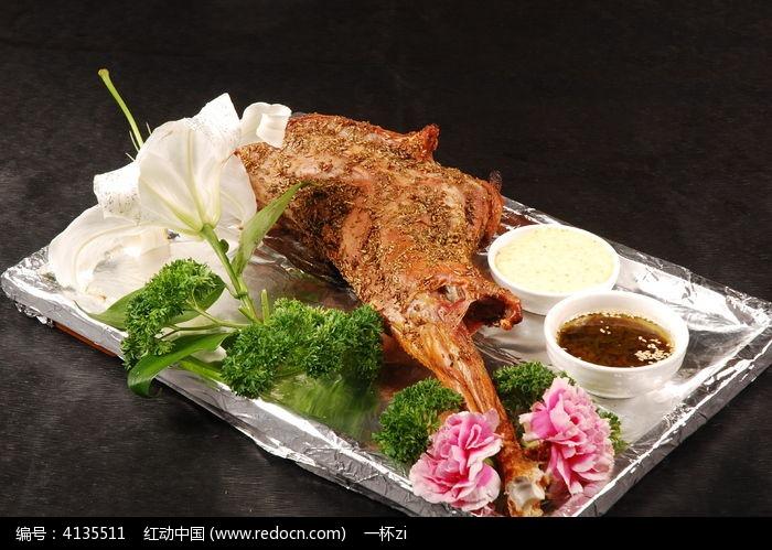 秘制孜然烤羊腿图片,高清大图_中国菜系素材