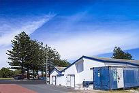 澳洲的蓝白色小房屋