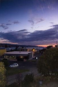 澳洲海港小镇日出景观