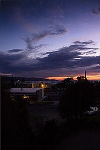 大洋路海港小镇的日出景象