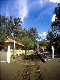 墨尔本蒸汽小火车站台口