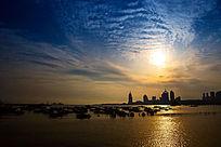 青岛的日落