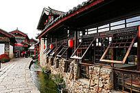 束河古镇纳西木质结构建筑