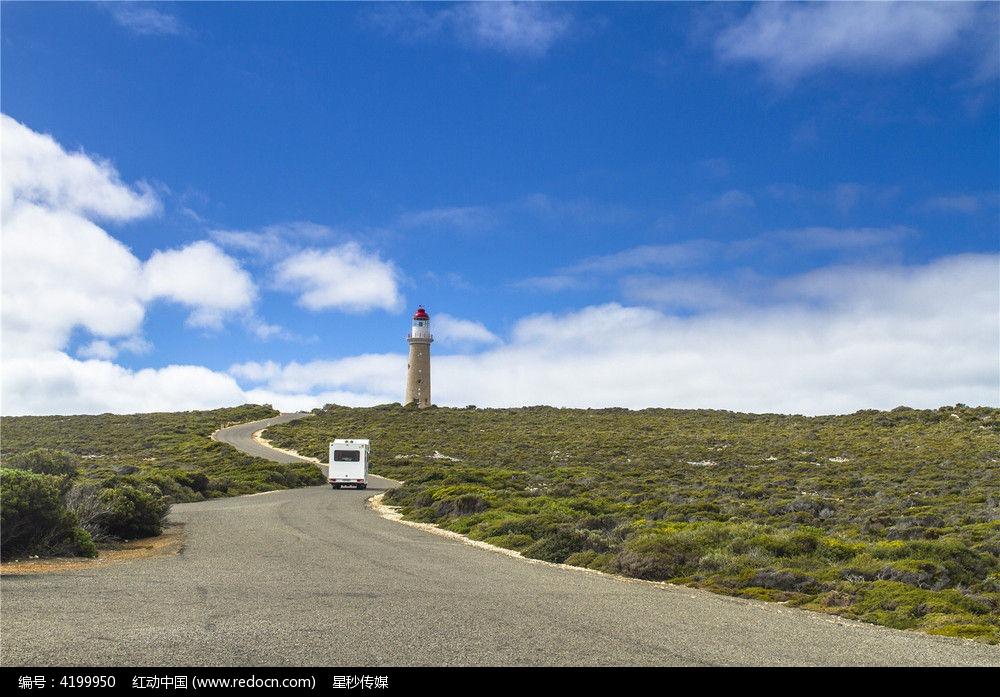 澳洲袋鼠岛上雄伟的灯塔图片