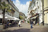 巴登巴登的购物街