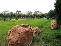 包头城市广场草坪