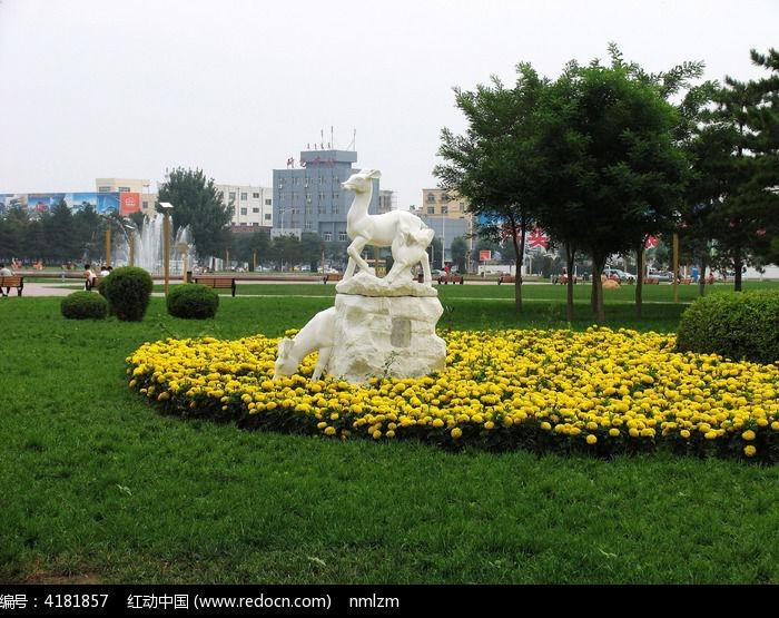 包头银河广场雕塑图片
