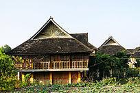傣族自然生态村寨风景