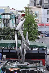 邓州步行街的一个标志
