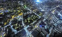 俯瞰墨尔本大都市夜景