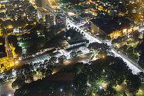 俯瞰悉尼城市道路夜景
