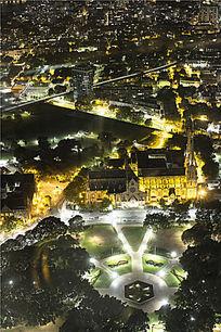 俯瞰悉尼城市夜景