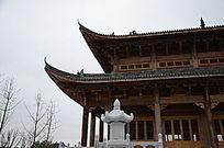 古代大殿堂屋檐