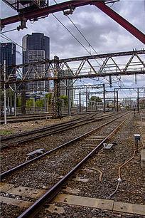墨尔本费兰德林火车站轨道