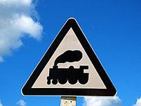 铁路火车标识牌
