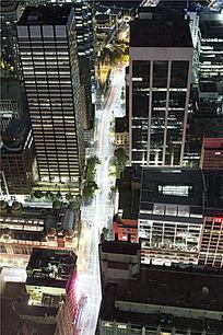悉尼城市道路夜景