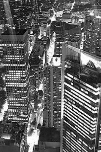 悉尼城市的高楼大厦夜色景象